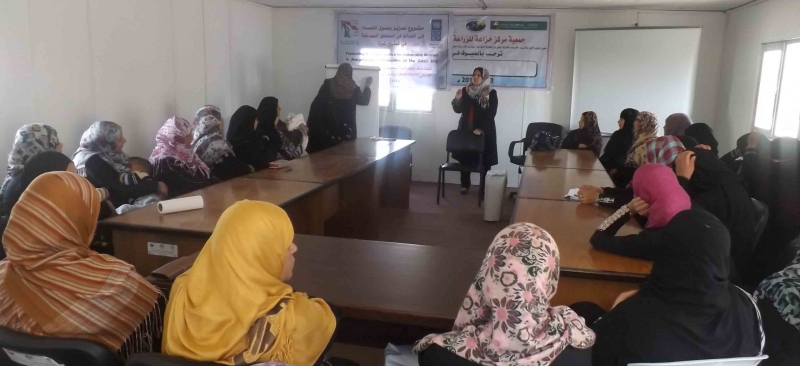 Association has implemented two workshops on personal status law in cooperation with the Center for Women's Affairs-Gaza